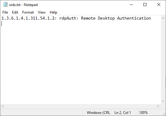 1.3.6.1.4.1.311.54.1.2: rdpAuth: Remote Desktop Authentication